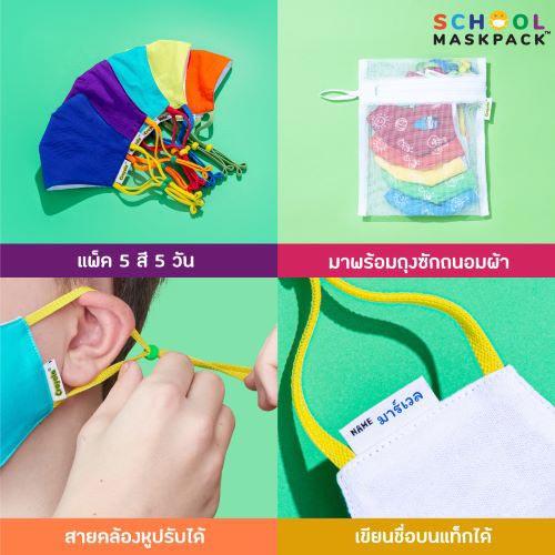 SchoolMaskPack™ หน้ากากผ้าดีไซน์สุดน่ารัก ได้รับมาตรฐานความปลอดภัยจากอเมริกา