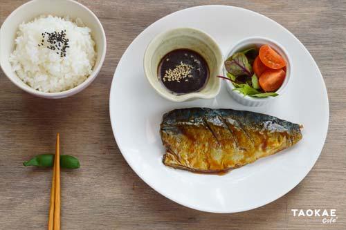ปลาซาบะย่าง ราดซอสเทอริยากิ